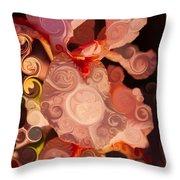 Pink Iris As A Burst Of Color Flower Abstract Art Throw Pillow