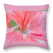 Pink Is Beautiful Throw Pillow by Louis Rivera