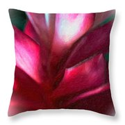 Pink Journey Impasto Throw Pillow
