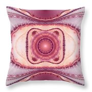 Pink Lace Throw Pillow