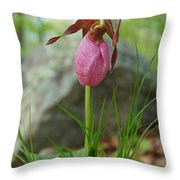 Pink Lady Throw Pillow