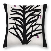 Pink Leaf Maple Throw Pillow by Barbara St Jean