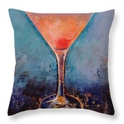Pink Lemonade Martini Throw Pillow
