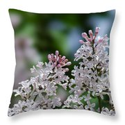 Pink Lilacs - Featured 2 Throw Pillow