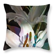 Pink Lily Dance Throw Pillow