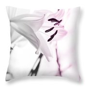 Pink Lily Feature Throw Pillow