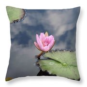 Pink Lily Monet Throw Pillow
