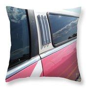 Pink Limousine Throw Pillow