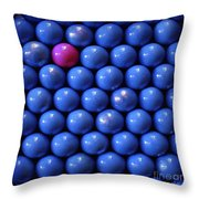 Pink Lost  In Blue Throw Pillow
