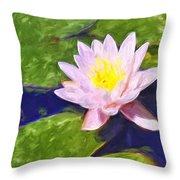 Pink Lotus At Waikoloa Throw Pillow