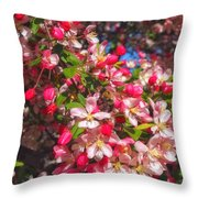 Pink Magnolia 2 Throw Pillow by Joann Vitali