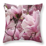 Pink Magnolia Blossoms Washington Dc Throw Pillow
