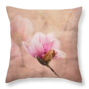 Pink Magnolia II Throw Pillow