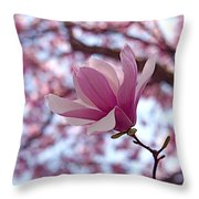 Pink Magnolia Throw Pillow by Rona Black