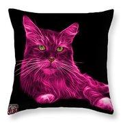 Pink Maine Coon Cat - 3926 - Bb Throw Pillow