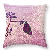 Pink Monarch Throw Pillow