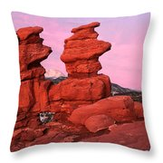 Pink Morning Throw Pillow