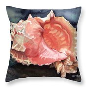 Pink-mouthed Murex Throw Pillow
