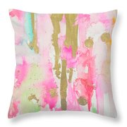 Pink N Glam Throw Pillow