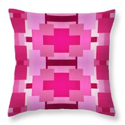 Pink On Pink 2 Throw Pillow