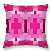 Pink On Pink Panorama 4 Throw Pillow