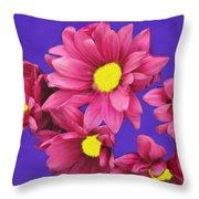 Pink On Purple Throw Pillow