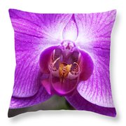 Pink Orchid Detail Throw Pillow