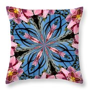 Pink Orchid Kaleidoscope 2 Throw Pillow