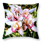 Pink Spirit Orchids Palm Springs Throw Pillow
