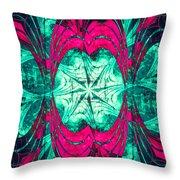Pink Overlay Throw Pillow