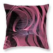 Pink Panels Throw Pillow