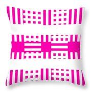 Pink Patterns Throw Pillow