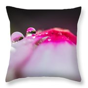 Pink Pearls Throw Pillow