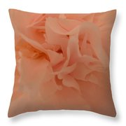 Peach Peony Throw Pillow
