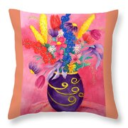 Pink Persuasion Throw Pillow
