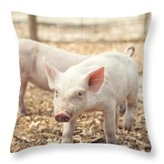 Pink Piglet Throw Pillow