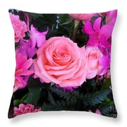 Pink Pink Love Is Pink Throw Pillow