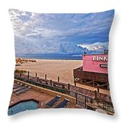 Pink Pony And Approaching Storm Throw Pillow