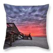 Pink Pony Morning Throw Pillow