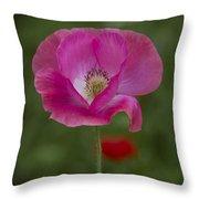 Pink Poppy. Throw Pillow