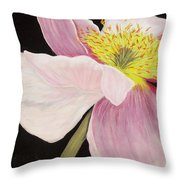 Pink Poppy Throw Pillow