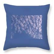 Pink Puffy Clouds Throw Pillow
