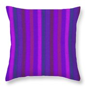 Pink Purple And Blue Striped Textile Background Throw Pillow