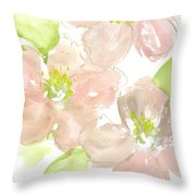 Pink Quince Throw Pillow