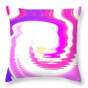 Pink-reunion Island-indian Ocean Throw Pillow