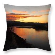 Pink River Throw Pillow