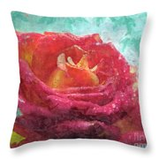 Pink Rose - Digital Paint II Throw Pillow