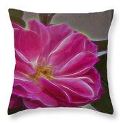Pink Rose Digital Art 2 Throw Pillow