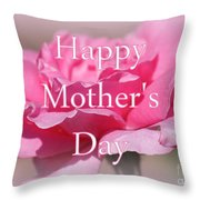 Pink Rose Mother's Day Card Throw Pillow