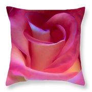 Pink Rose Pedals Throw Pillow